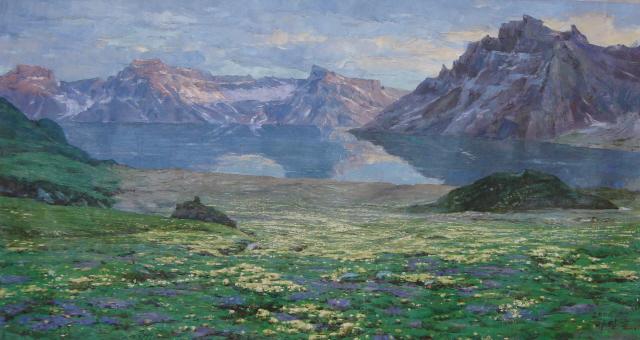 朝鲜山水画,花鸟画,油画作品52幅 (7)